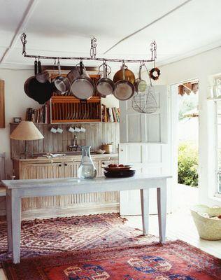 Amazing kitchen, open, rugs