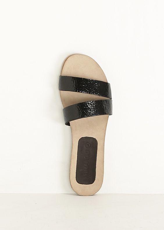 Humanoid Sloppy Sandal (Black)