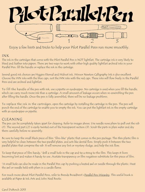 Parallel Pen Information