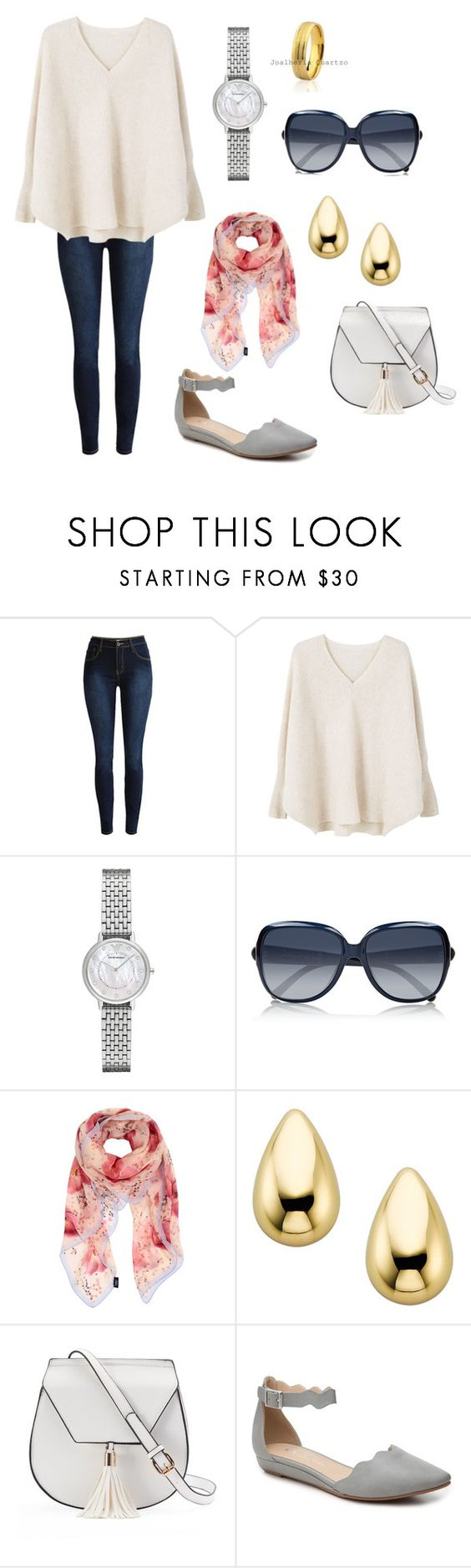 """""""watching a football game in Adelaide"""" by dezac-novaes on Polyvore featuring MANGO, Emporio Armani, Chloé, Furla, Yoki and CL by Laundry"""