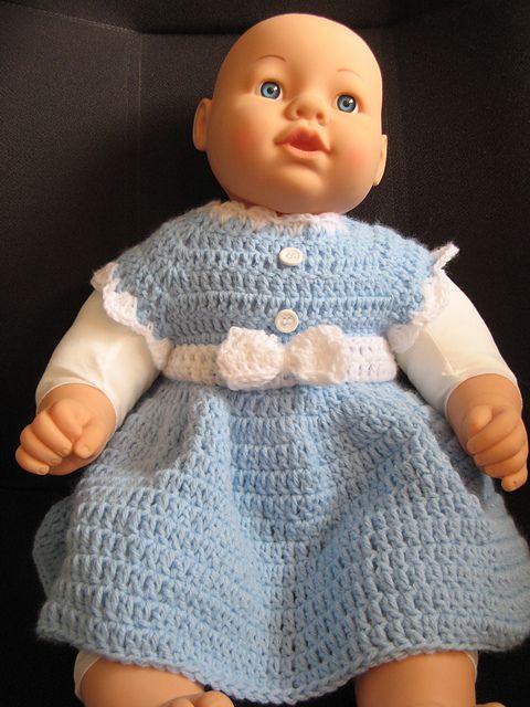Beginner Crochet Dress Patterns : Beginner/ Easy Crochet Baby Dress pattern by Yolanda Soto ...