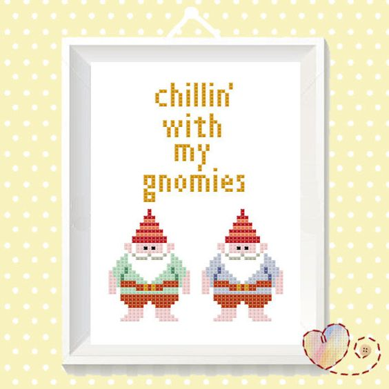 Gnomies are the best kind of homies!    PLEASE NOTE:  >This listing is for the pattern alone, this is not a kit.  >After purchase has been made,