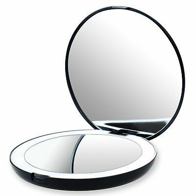 Advertisement Led Lighted Travel Makeup Mirror 1x 10x
