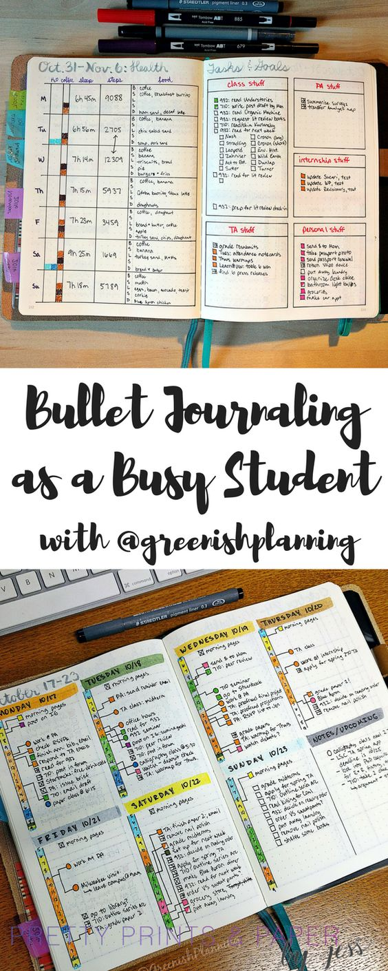Use the bullet journal to stay sane as a student - check out tips from Jady on the blog today!: