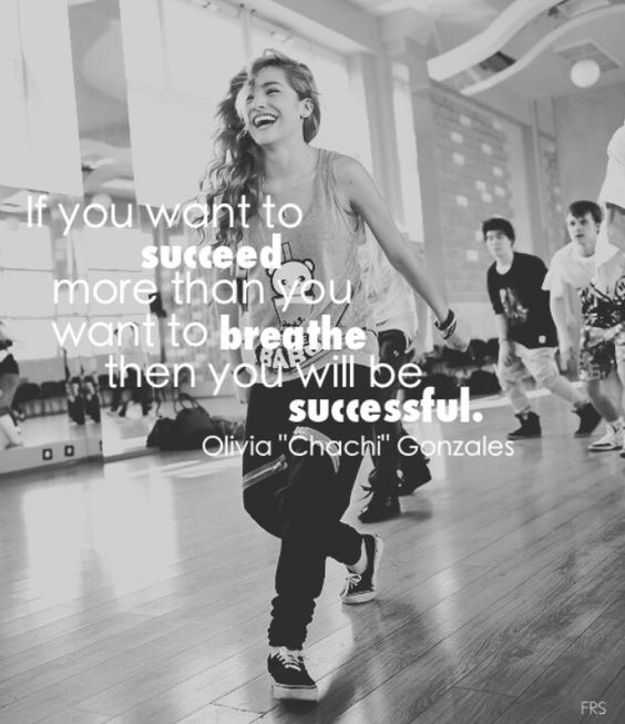 Chachi's quote says it all. If you really want to succeed in something, you got to work hard for it.