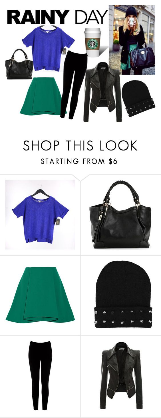 """""""Rainy day outfit"""" by clairejagus ❤ liked on Polyvore featuring Eileen Fisher, Opening Ceremony and Warehouse"""