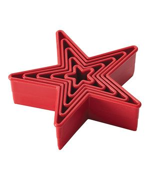 Another great find on #zulily! Red Star Five-Piece Fondant/Cookie Cutter Set by Cake Boss #zulilyfinds
