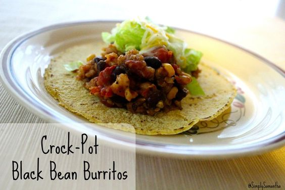 Crock-Pot Black Bean Burritos