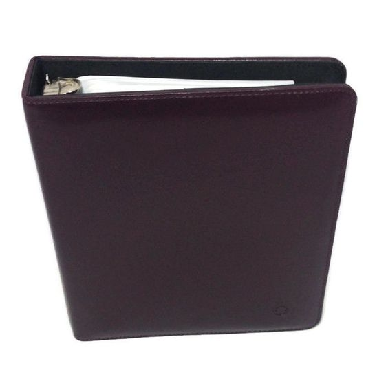 """Franklin Covey Open Binder Planner Organizer  7 Ring 1.25"""" w/ Contents Burgundy #FranklinCovey"""