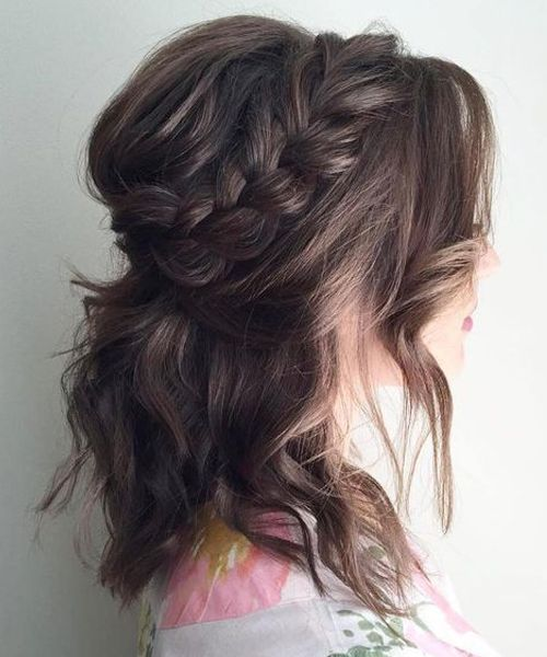 30 Ways To Style Brown Medium Hair Stunning Medium Length Hairstyles In 2020 Wedding Hairstyles For Medium Hair Medium Hair Styles Short Wedding Hair