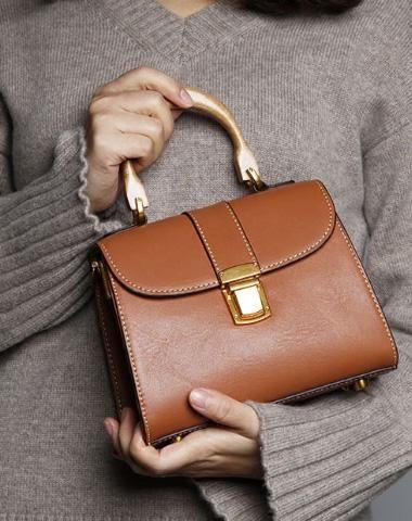 GENUINE LEATHER CUTE HANDBAG CROSSBODY BAG SHOULDER BAG WOMEN LEATHER PURSE