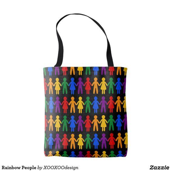 Rainbow People Tote Bag