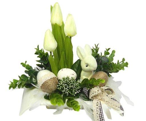 Wielkanocny Elegancki Nowoczesny Stroik Wielkanoc 7195991162 Oficjalne Archiwum Allegro Easter Decorations Decor Table Decorations