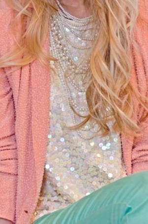 pastels with a side of sequin