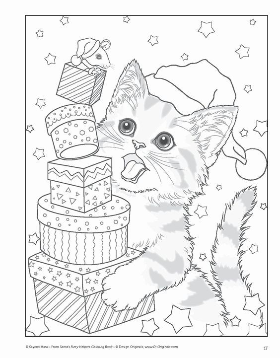 Printable Christmas Cat Coloring Pages Luxury Pin By Beth