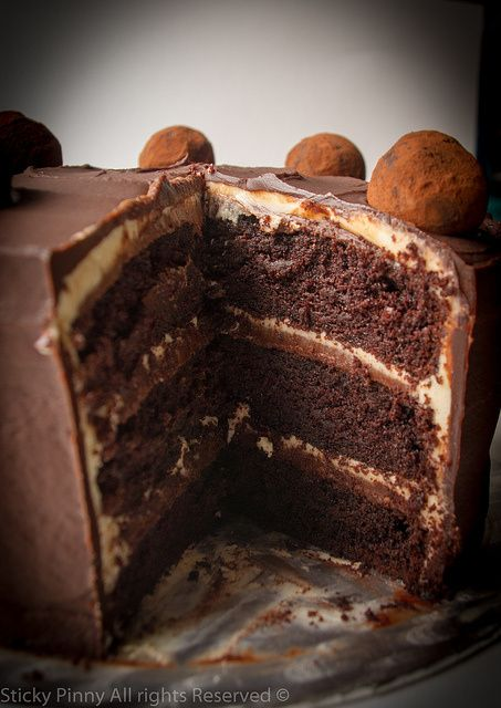 Salted Caramel Chocolate Cake - Inspired by the Great British Bake Off