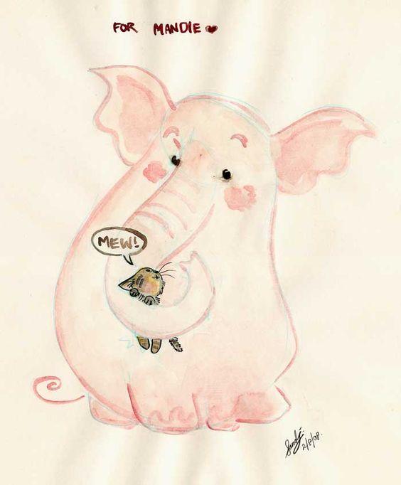 A Pink Elephant For Mandie by Sandora