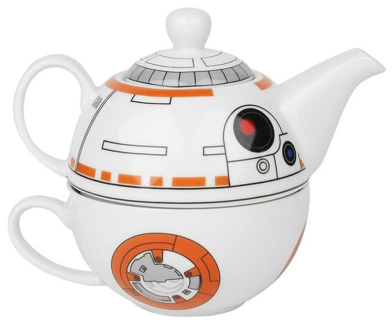 Star Wars BB-8 Ceramic Teapot and Cup Set Maybe something for https://Addgeeks.com ?