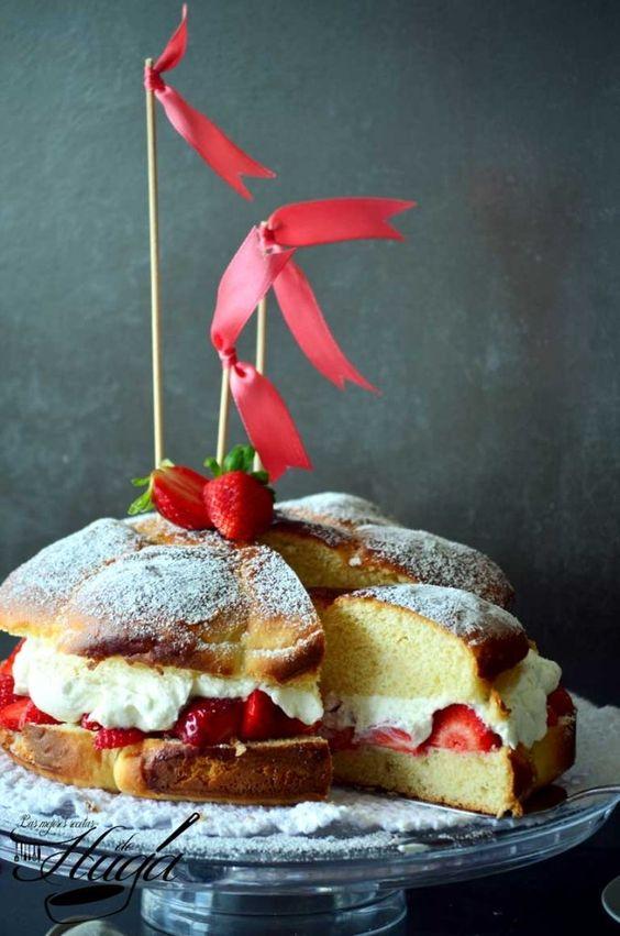 Tarta brioche con fresas y chantilly - Las mejores recetas de Huga