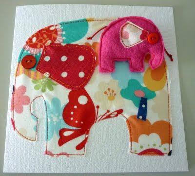 Cute fabric card.