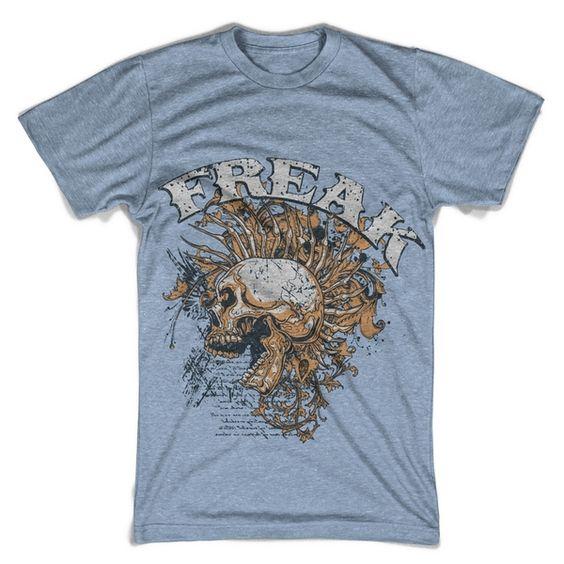 "T-Shirt men ""punk freak"" FARBAUSWAHL! von MAD IN BERLIN auf DaWanda.com"