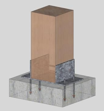 Post Base with Steel Boot