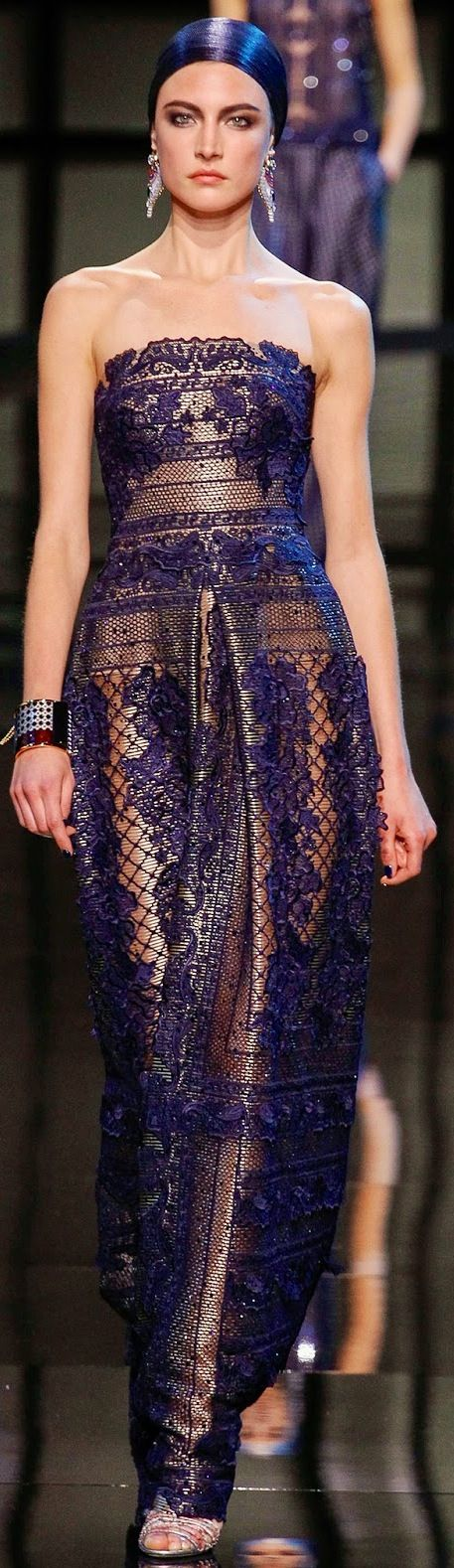 Armani privé-inspiration for songket dress, but add sleeves, perhaps with black shiny jacket