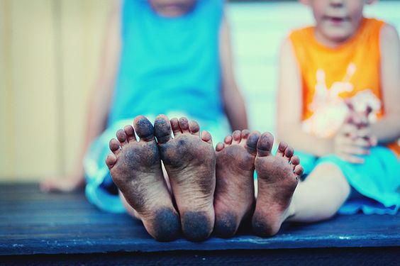 barefoot Summers - mine were dirty but not THIS dirty...as I recall??: