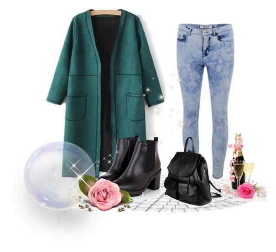 """pure_color_neck_sleeve_coat"" by alicelee-512 ❤ liked on Polyvore featuring ONLY and PARENTESI"