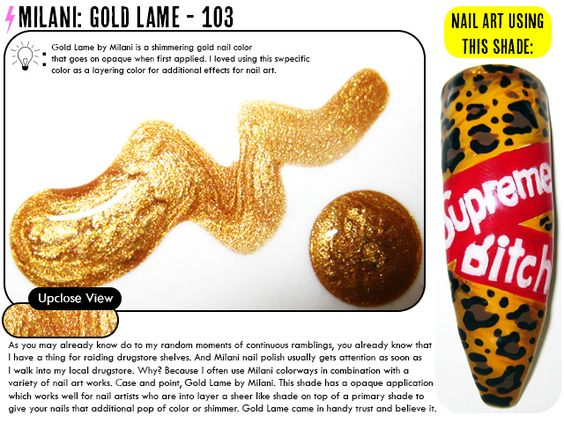 Nail Polish Review: Milani: Gold Lame – 103