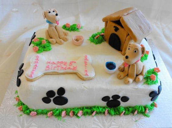 Beagle Shaped Birthday Cake