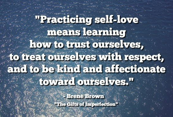 "Aretha said it best! Find out what R-E-S-P-E-C-T means to you. |  ""Practicing self-love means learning how to trust ourselves, to treat ourselves with respect, and to be kind and affectionate toward ourselves."" - Brene Brown"