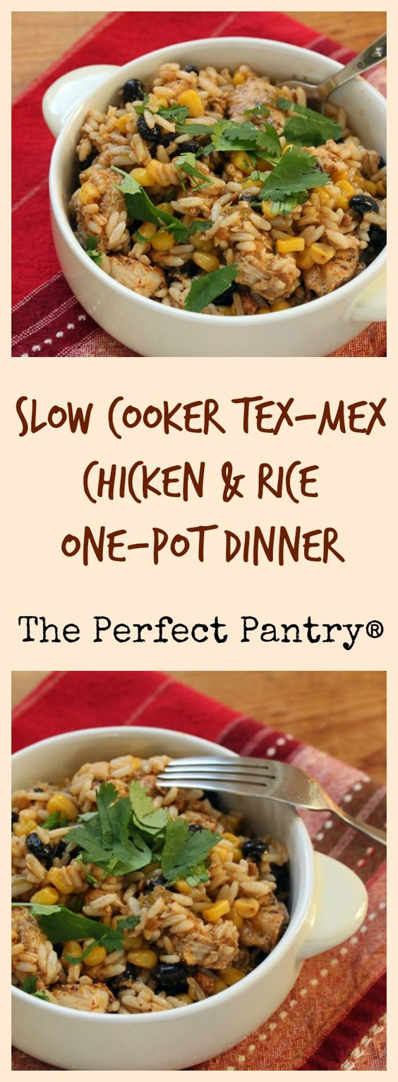 An easy one-pot dinner from your crockpot: Tex-Mex chicken and rice ...