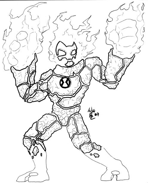 Ben 10 Heatblast Coloring Pages Coloring Pages Detailed Coloring Pages Mandala Coloring Pages