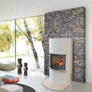 Poele a bois blanc home pinterest comment et interieur for Poele a bois blanc
