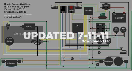 Wiring diagram for a GY6 swap with Honda Ruckus – Gy6 Stator Wiring Diagram