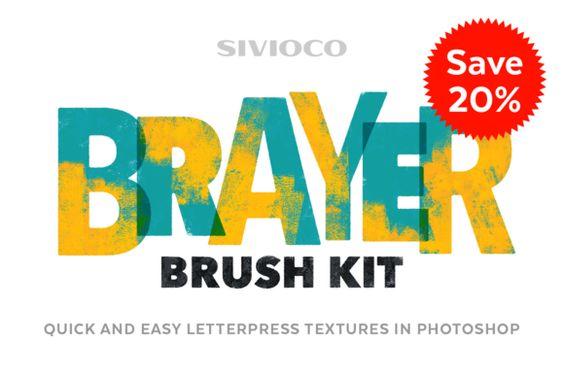 20% OFF - Brayer Brush Kit by Sivioco