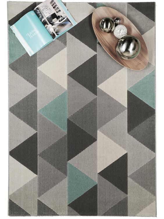 benuta tapis de salon moderne zick zack pas cher gris 160x230 cm label de qualit - Tapis Color Pas Cher