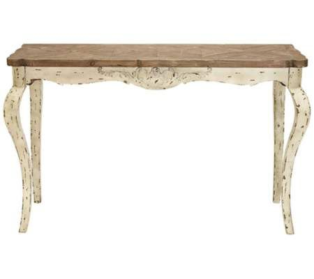 "Nicolette 55"" High Distressed Wood Console Table 