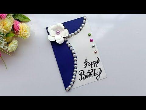 Beautiful Handmade Birthday Card Birthday Card Idea Youtube Greeting Cards Handmade Birthday Handmade Birthday Cards Special Birthday Cards