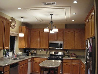 Removing a Fluorescent Kitchen Light Box  Can lights, Kitchen ceilings and Ceiling trim