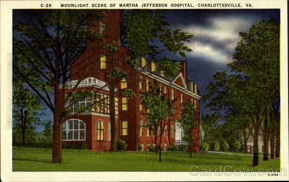 I remember when Martha Jefferson Hospital looked like this, and my family and I came in the ER front door because my brother had croup, I was only six and I sat in the waiting room all by myself waiting for my parents and him to come out, that wouldn't happen nowadays.