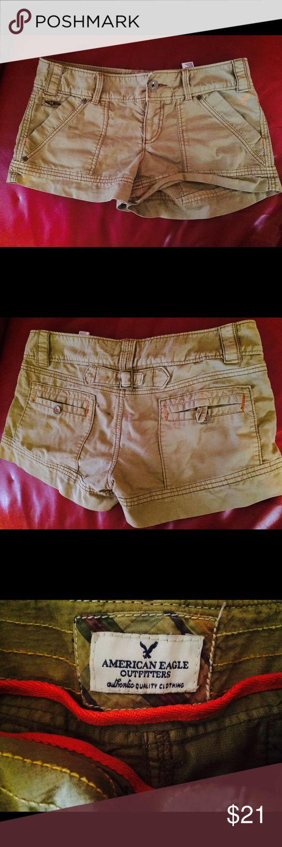 American Eagle Cargo Shorts AE cargo shorts in size 8 (US) , new condition, worn once yet didn't fit! Buy today 💛😊 American Eagle Outfitters Shorts Cargos