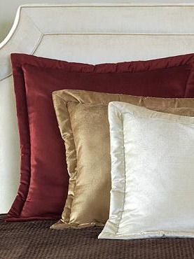 Refresh your master bed with plush and decadent colors and fabrics with the Lucerne Bed Pillow; available in six gorgeous colors.