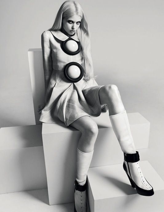 Abbey Lee Kershaw shot by Richard Bush for i-D