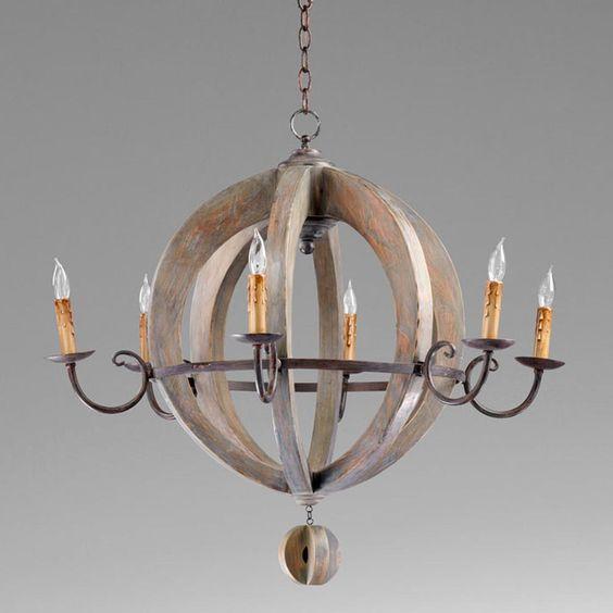 Globe Chandelier Weathered Wood And Wine Barrels On Pinterest