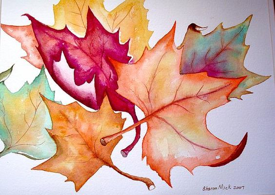 Fall leaves :) A watercolor :)