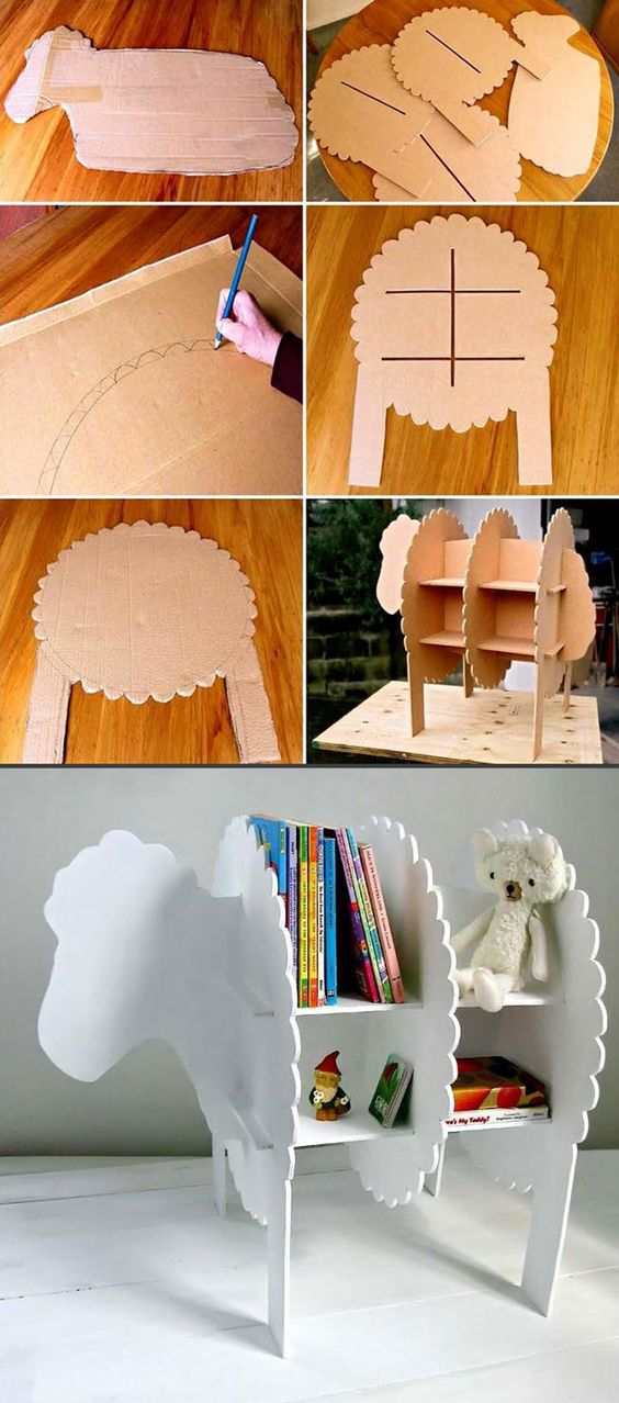 Cardboard Boxes Sheep And Shelving On Pinterest