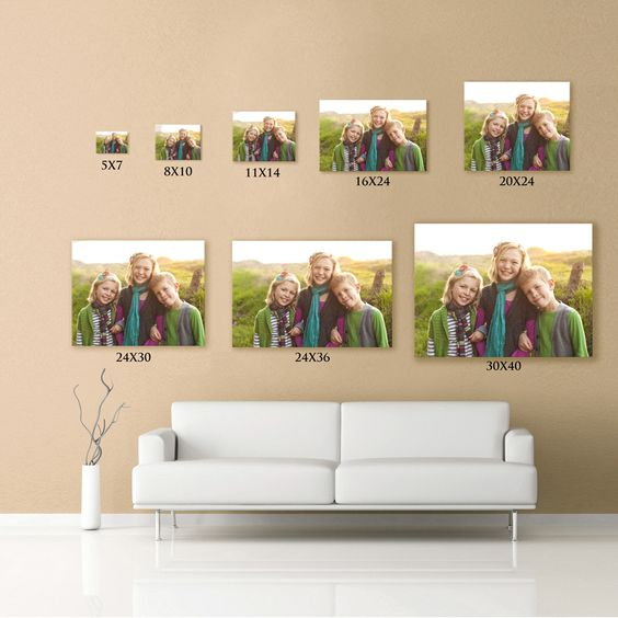 canvas prints compared to couch. You really donu0026#39;t want anything ...