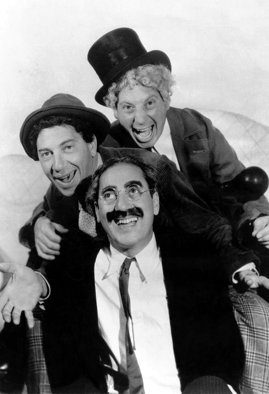 """The Marx Brothers Poster 13x19/"""" Black and white print"""